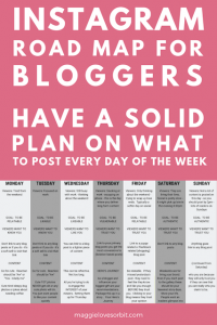Instagram daily tips on what to post on for bloggers