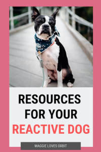 social media image for article on resources for your reactive dog