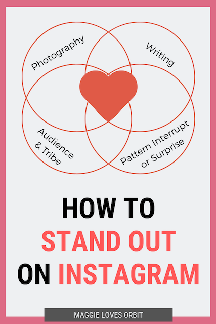 Infographic showing how to stand out on Instagram