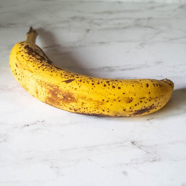 ripe banana ingredients for coconut oil dog treats