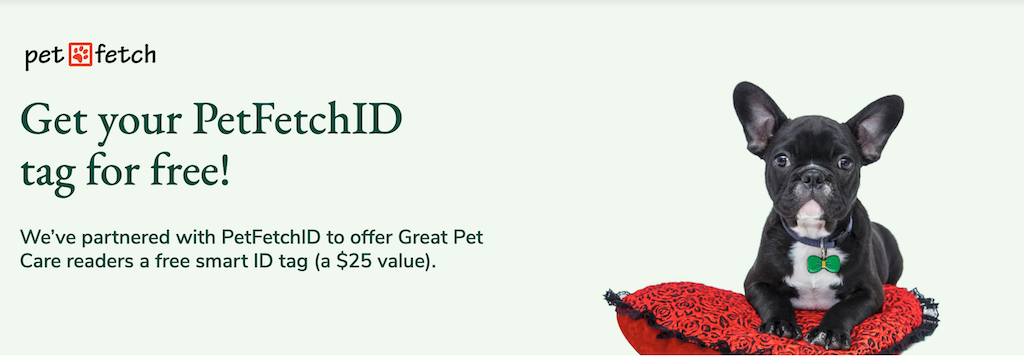 Get your PetFetchID tag for free